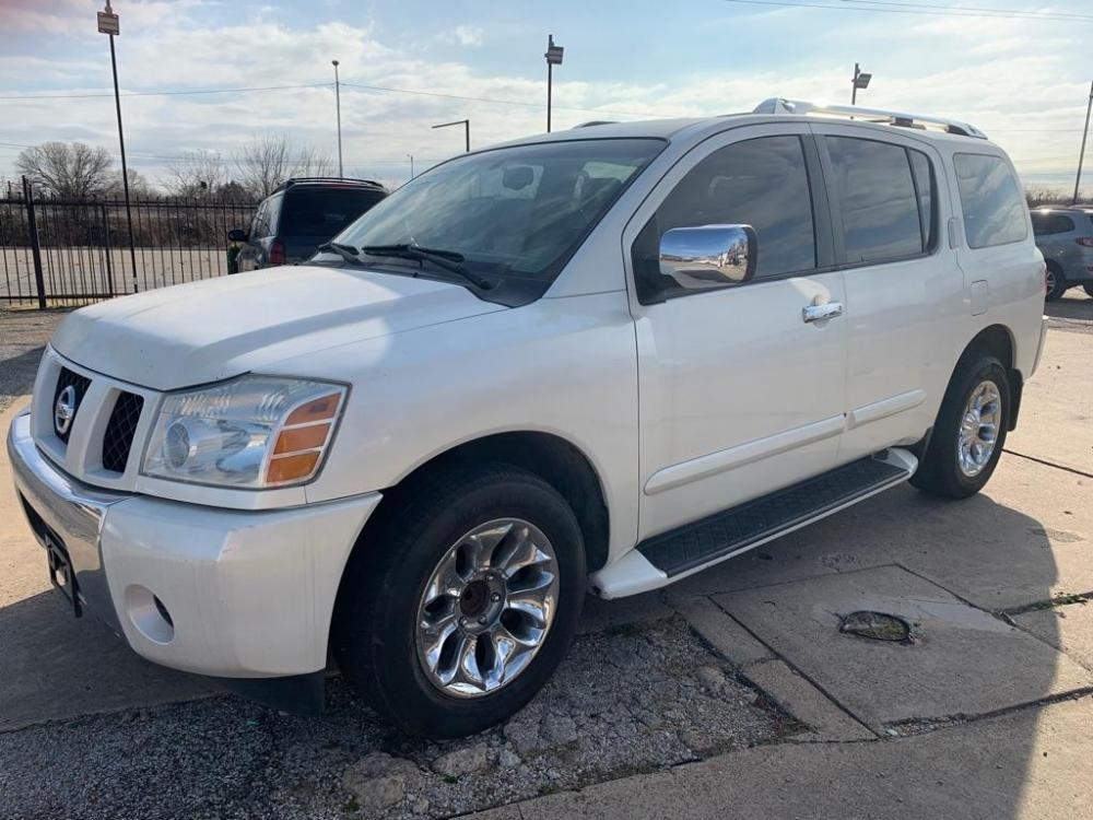 2005 WHITE /Graphite Leather Int NISSAN ARMADA SE (5N1AA08A65N) with an 5.7L engine, Automatic transmission, located at 2002 W Main St., Grand Prairie, TX, 75050, (972) 641-9598, 32.740414, -97.031143 - Photo #0