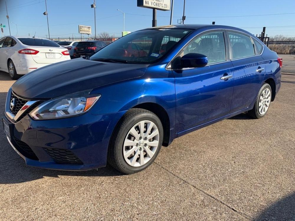 2017 BLUE NISSAN SENTRA S (3N1AB7AP2HY) with an 1.8L engine, Continuously Variable transmission, located at 2002 W Main St., Grand Prairie, TX, 75050, (972) 641-9598, 32.740414, -97.031143 - Photo #0